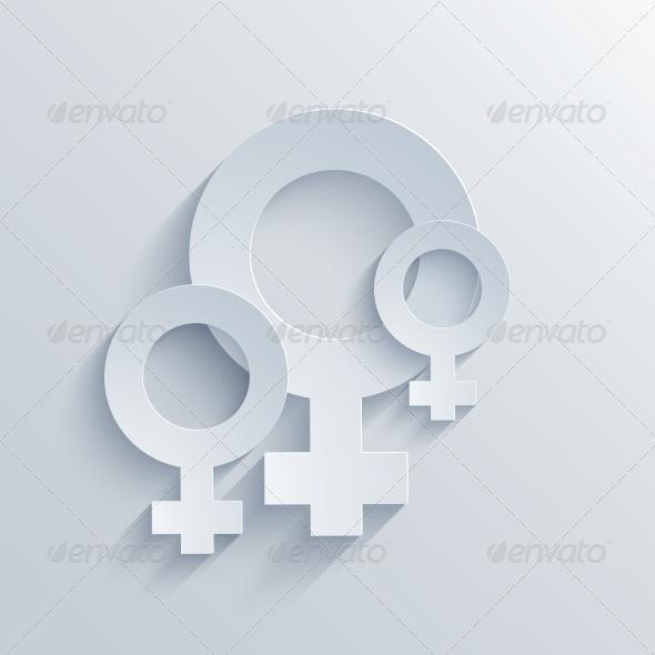 Vector Flat Modern Icon on Blue Background.EPS10 - Decorative Symbols Decorative