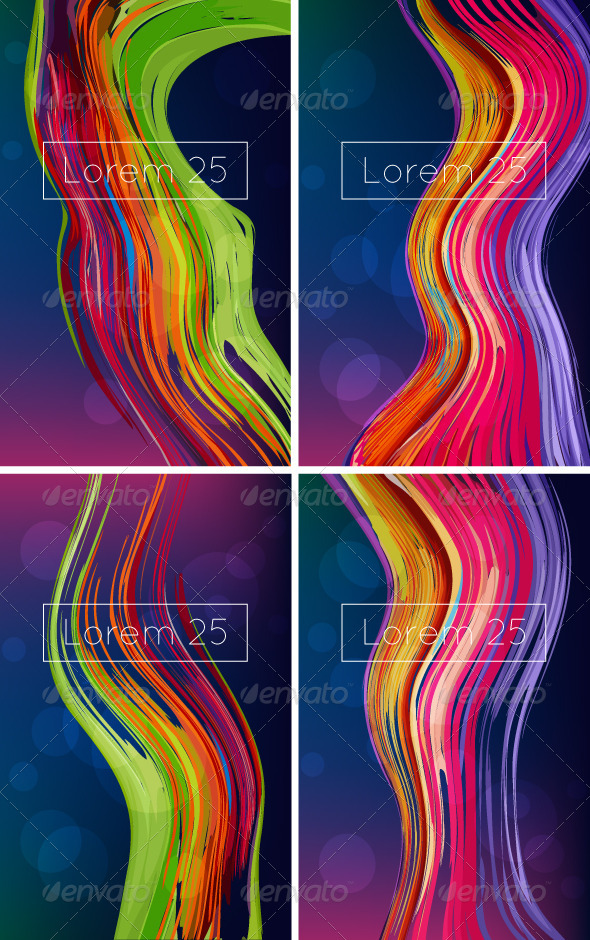 Bright Abstract Backgrounds - Miscellaneous Vectors