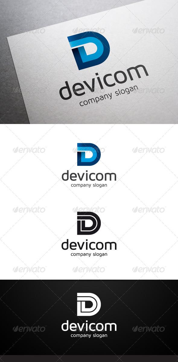 Devicom D Letter Logo - Letters Logo Templates