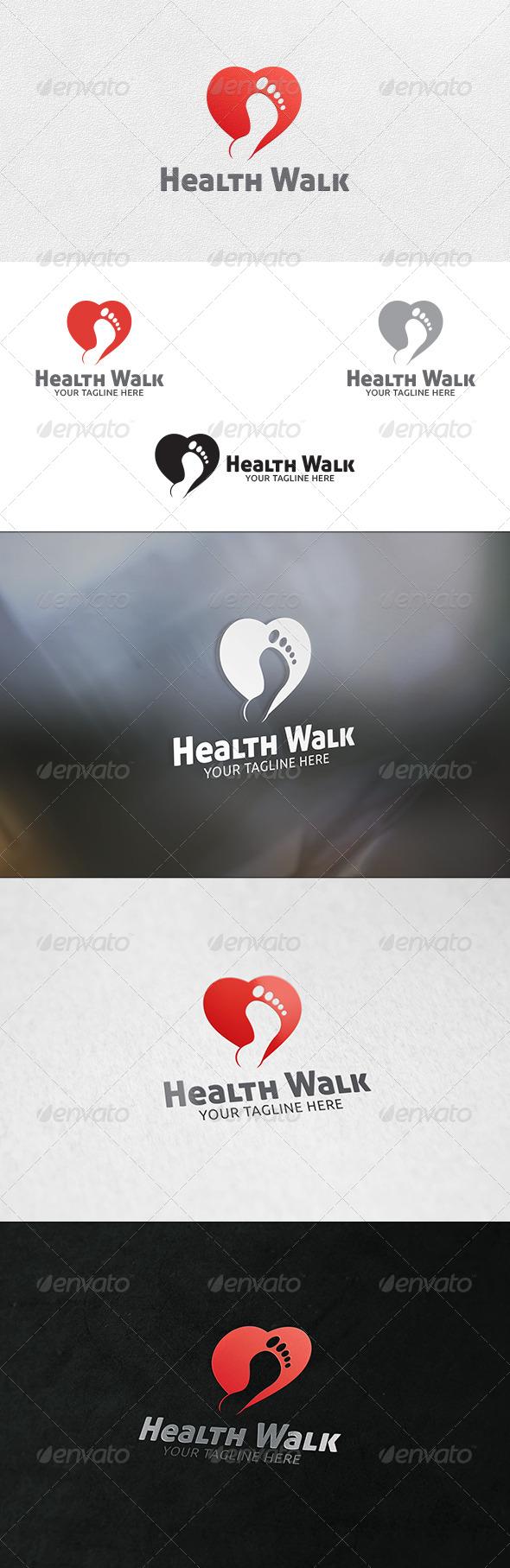 Healthy Walk - Logo Template - Symbols Logo Templates