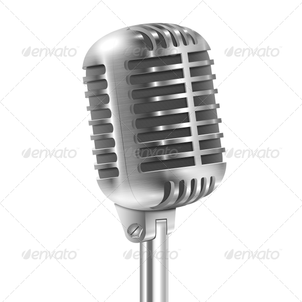 Retro Microphone - Media Technology
