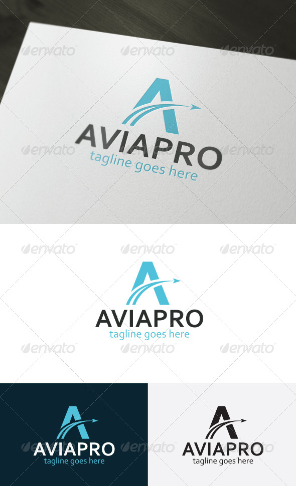 Avia Pro Logo — Letter A - Letters Logo Templates