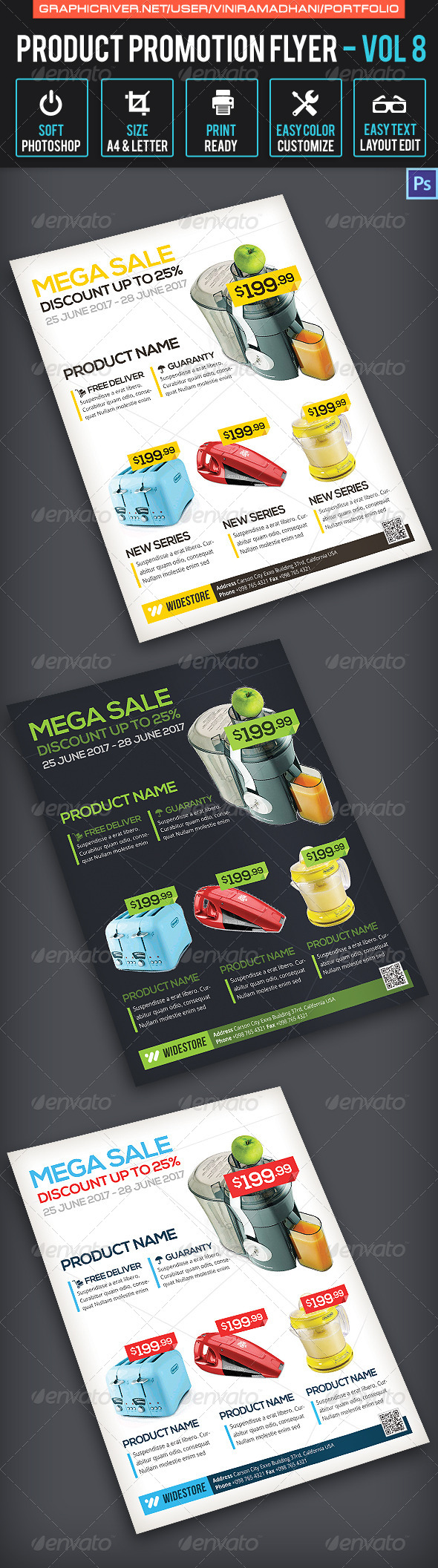 Product Promotion Flyer | Volume 8 - Commerce Flyers