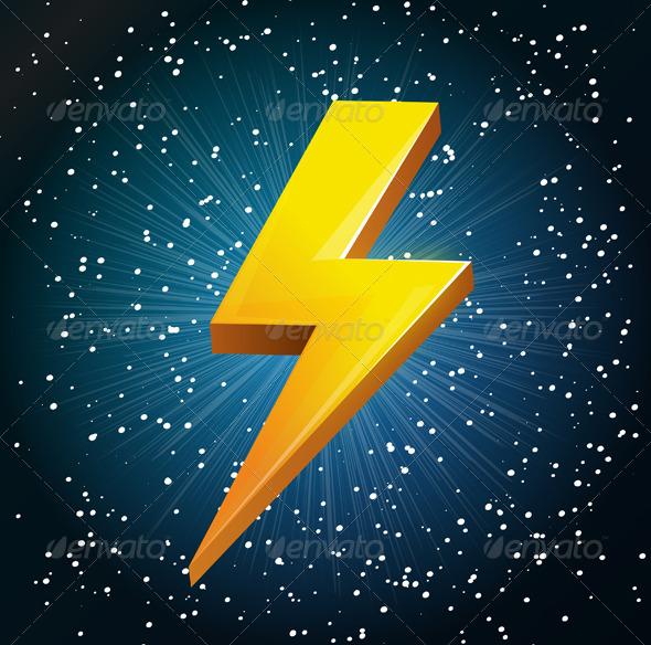Lightening Bolt Abstract - Technology Conceptual
