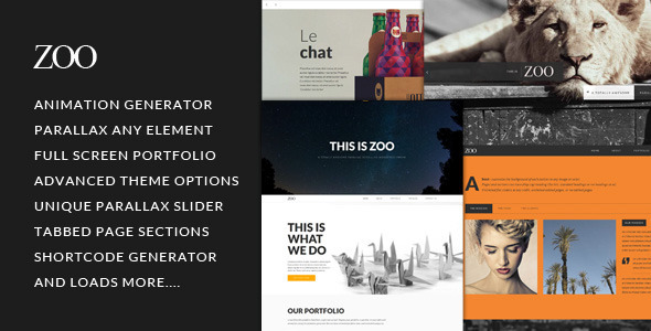 Zoo – Responsive One Page Parallax Theme