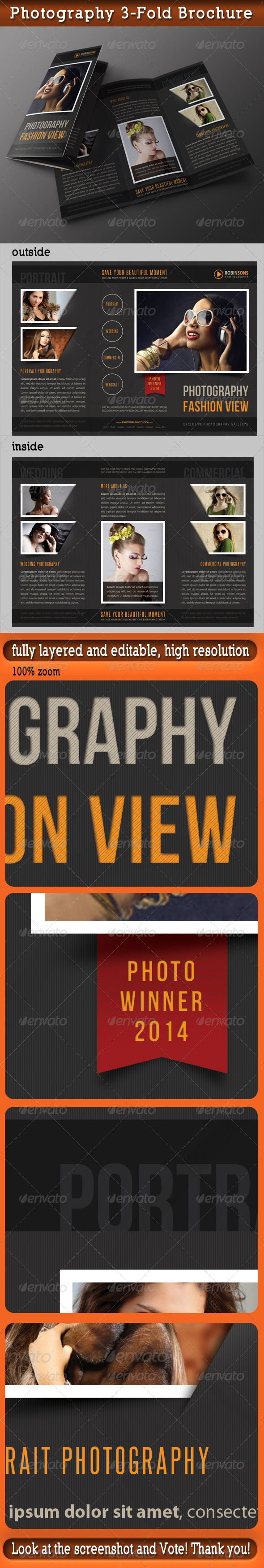 Photography Portfolio 3-Fold Brochure 04 - Portfolio Brochures