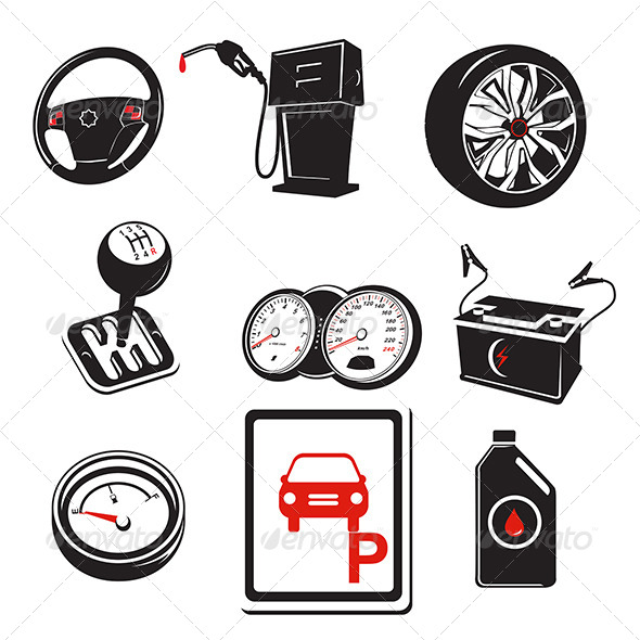 Auto Icons - Objects Vectors