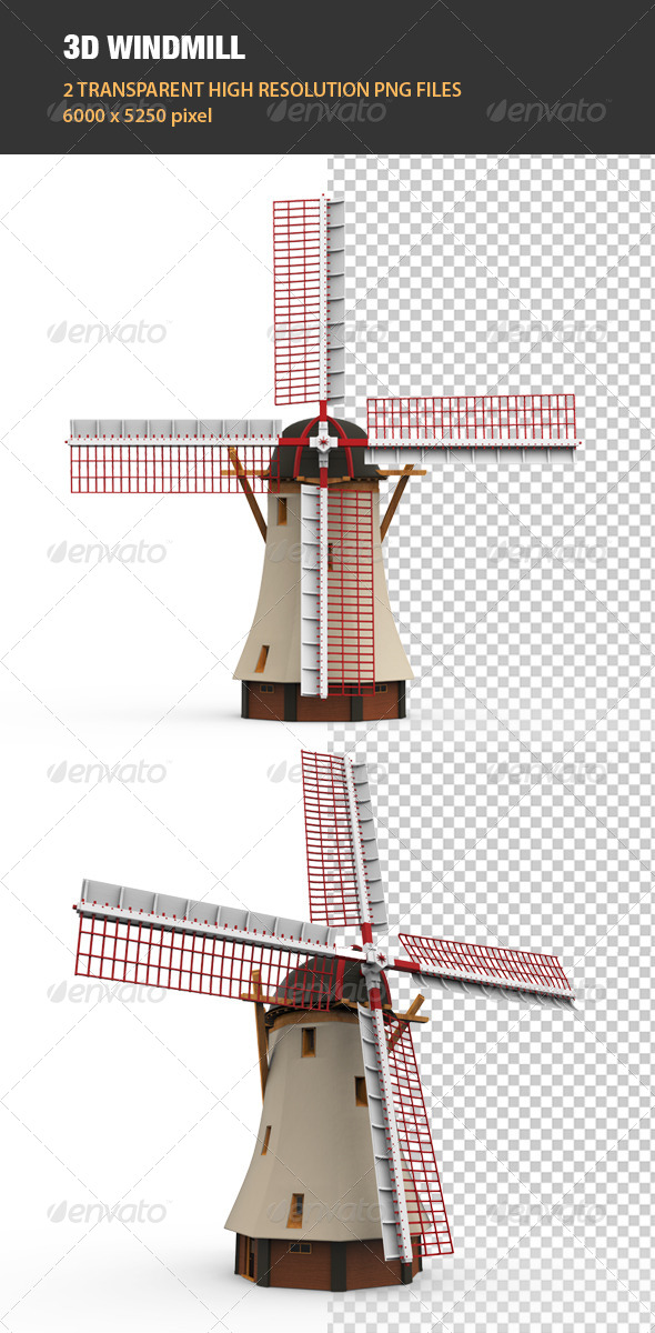 3D Windmill - Architecture 3D Renders