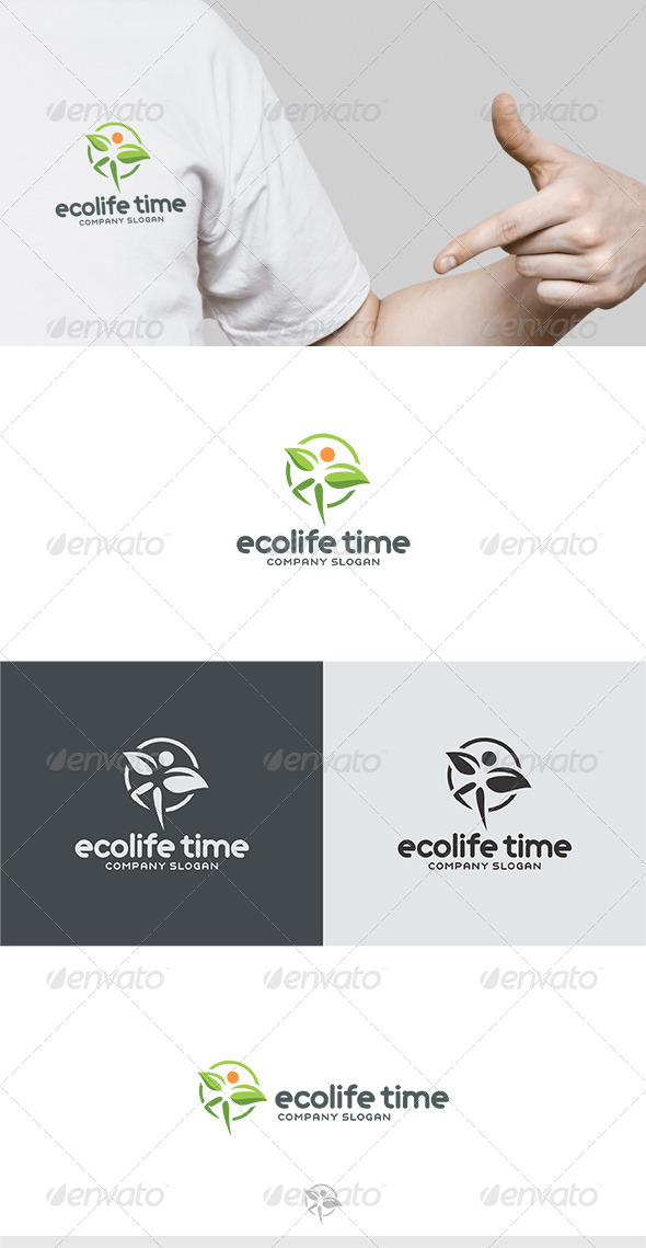 Ecolife Time Logo - Humans Logo Templates