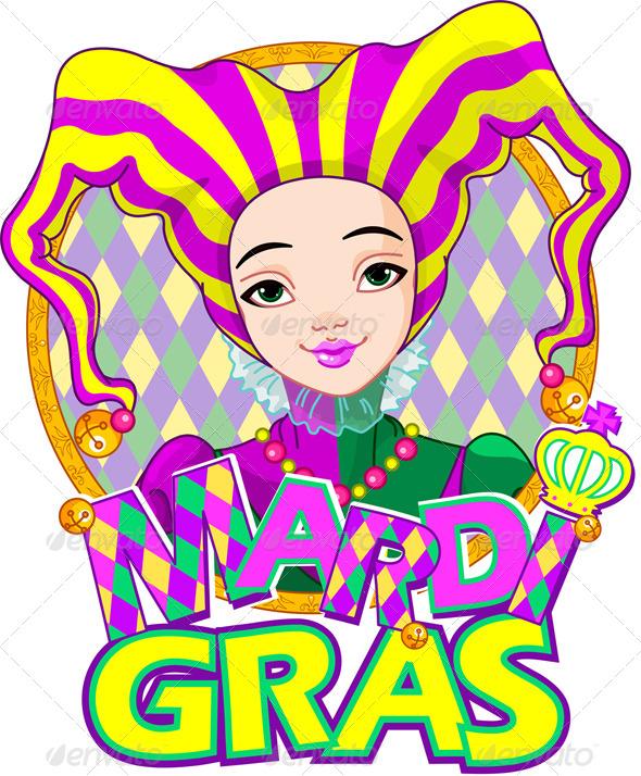 Mardi Gras Harlequin Design - Seasons/Holidays Conceptual