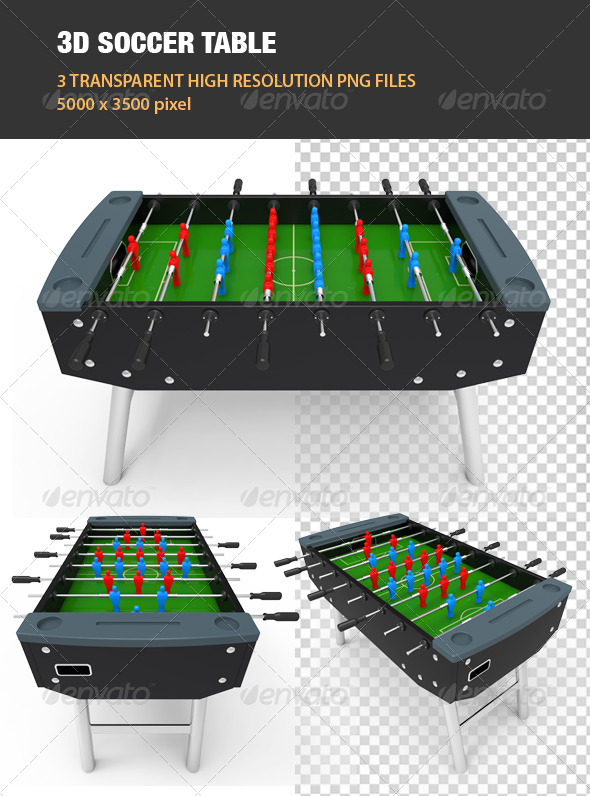 3D Soccer Table - Objects 3D Renders
