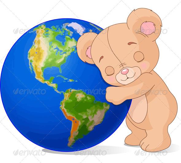 Love Earth Bear - Animals Characters