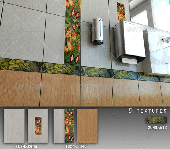 Professional Ceramic Tile Collection C062 - 3DOcean Item for Sale