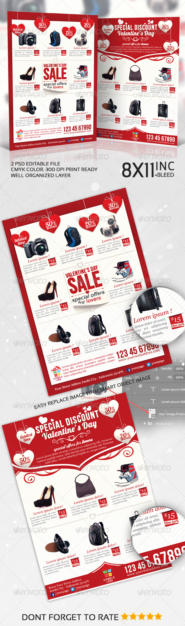 Valentines Product Sale / Promotion Flyer - Commerce Flyers