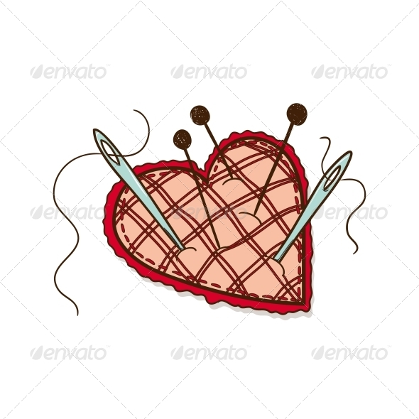 Pin Cushion - Valentines Seasons/Holidays