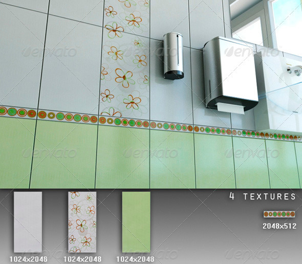 Professional Ceramic Tile Collection C063 - 3DOcean Item for Sale