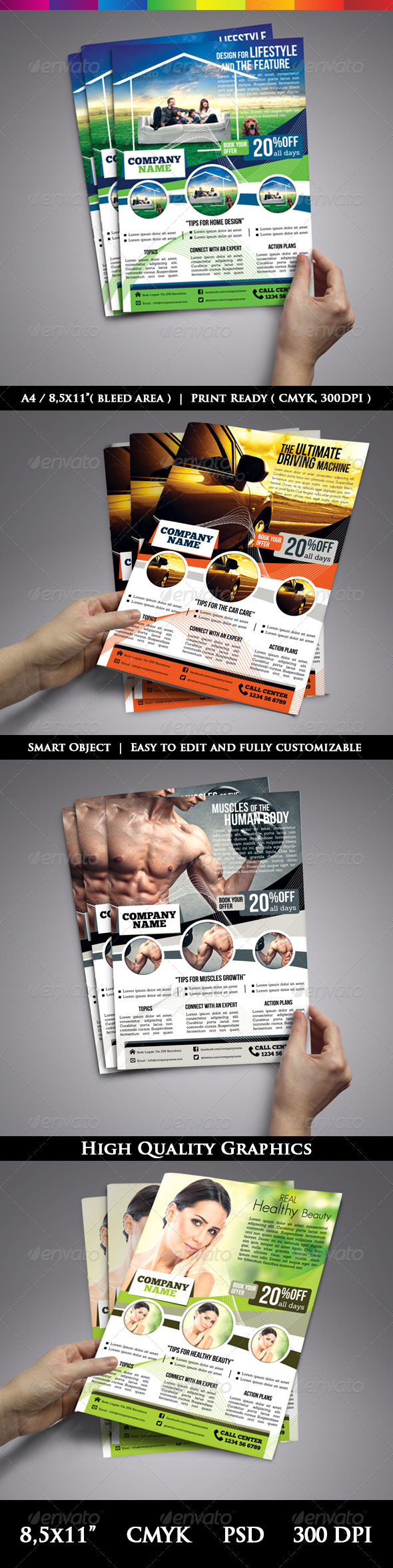 Multi-Purpose Modern Flyer Template For Business - Corporate Flyers