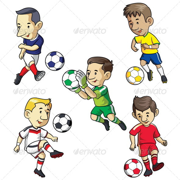 Soccer Kids Cartoon - People Characters