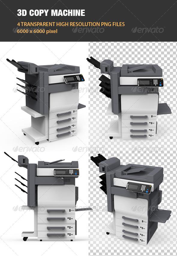 3D Copy Machine - Objects 3D Renders
