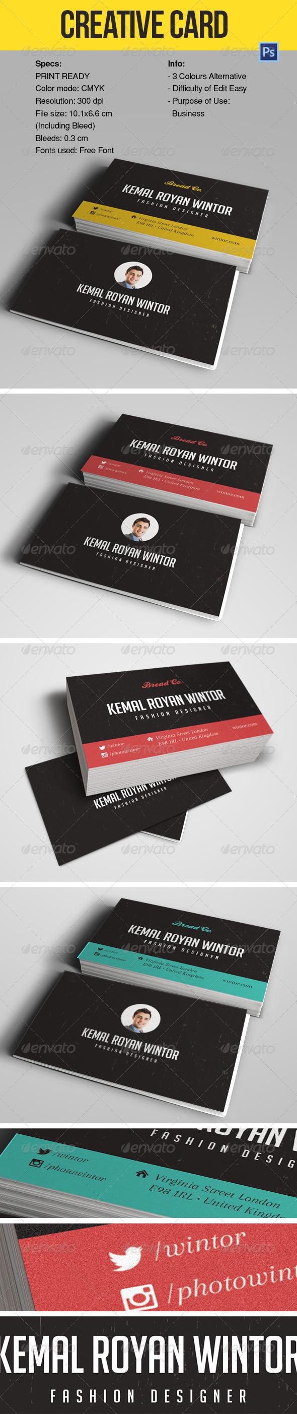 CREATIVE BUSINESS CARD YMC DESIGN - Creative Business Cards