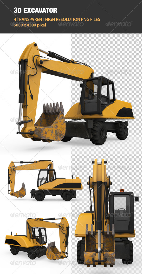 3D Excavator - Objects 3D Renders