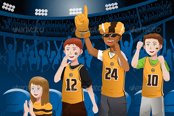 Sports Fans in a Stadium - Sports/Activity Conceptual