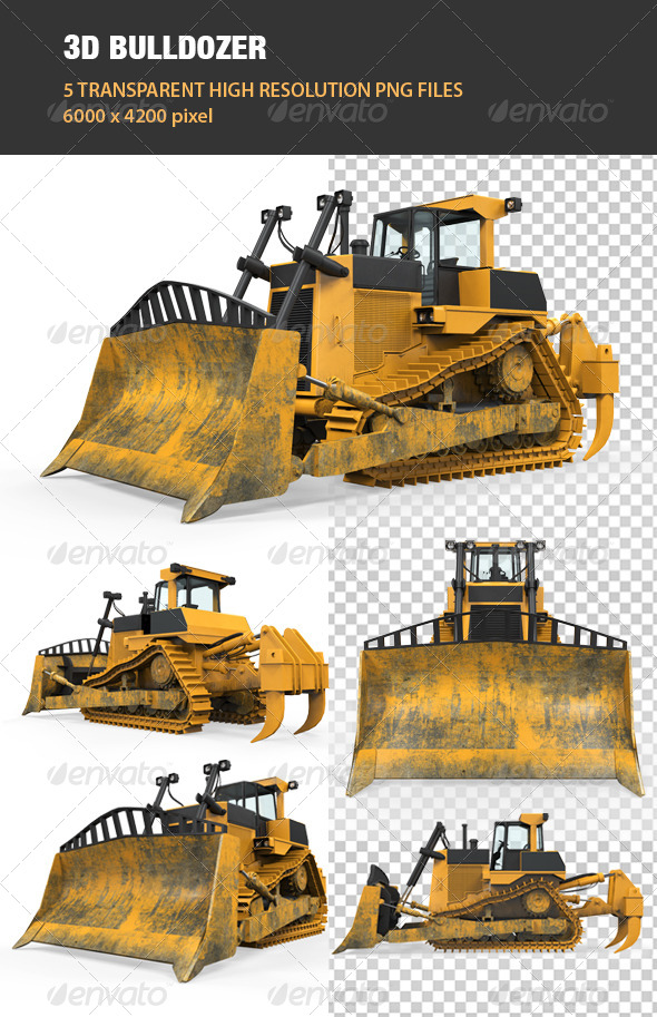 3D Bulldozer - Objects 3D Renders