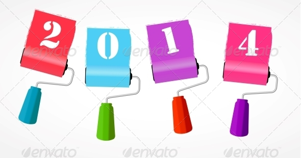 Paint Roll Icon - New Year Seasons/Holidays