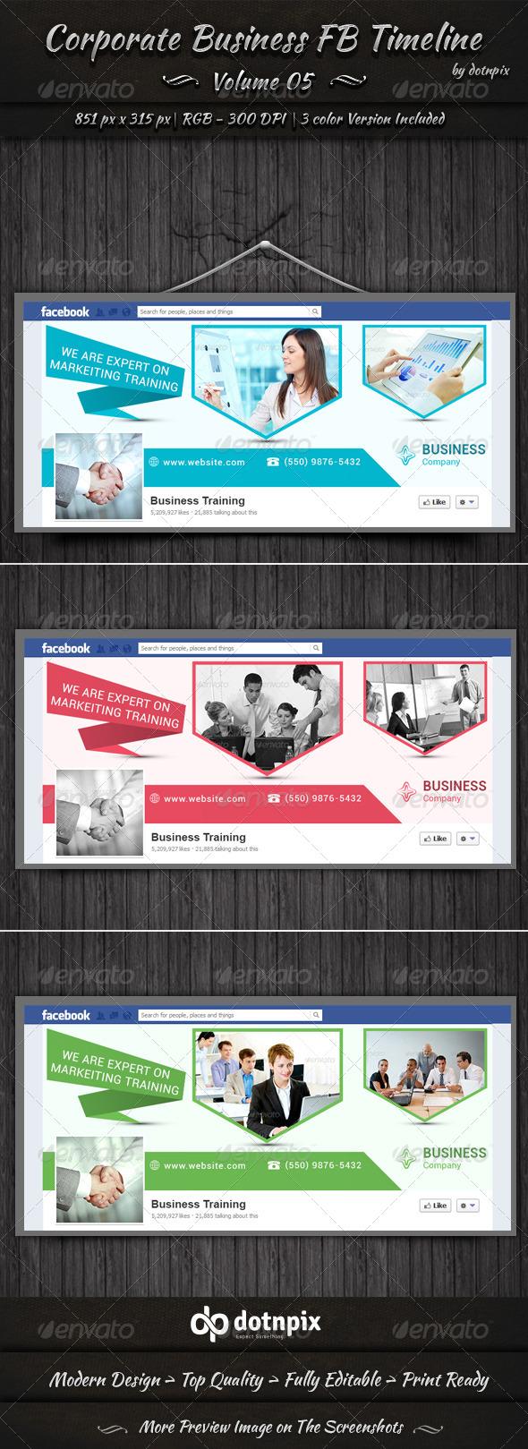Corporate Business FB Timeline | Volume 5 - Facebook Timeline Covers Social Media