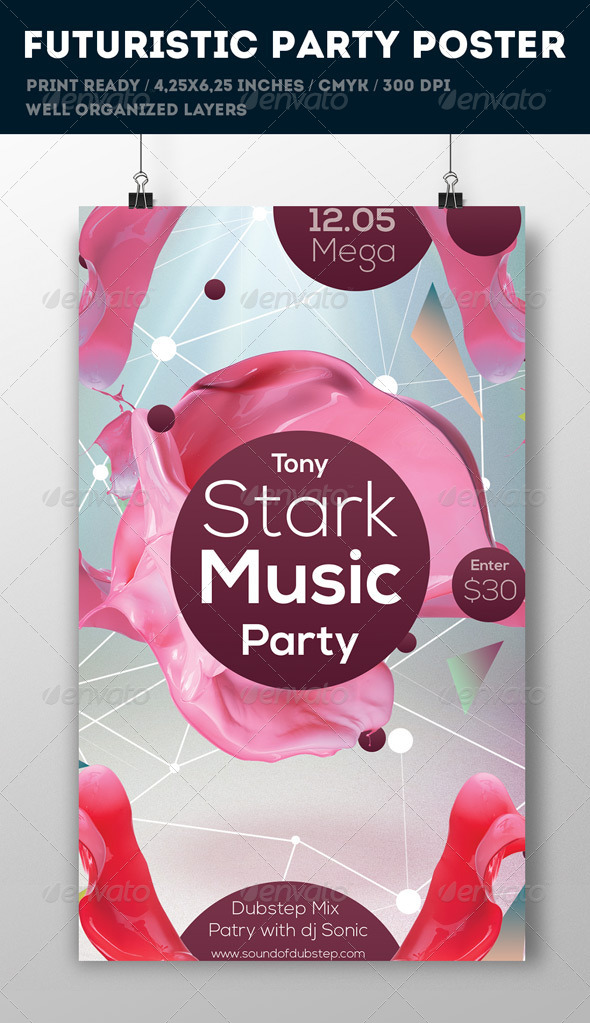 Clean Party Flyer - Flyers Print Templates