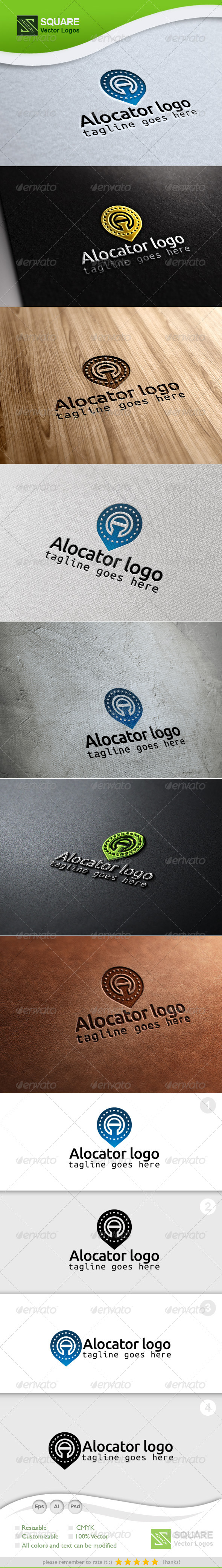 A, Locator Vector Logo Template - Letters Logo Templates