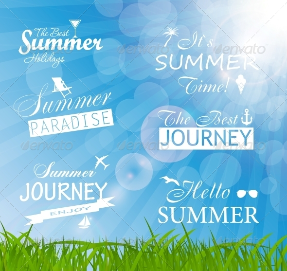 Abstract Summer Background - Christmas Seasons/Holidays