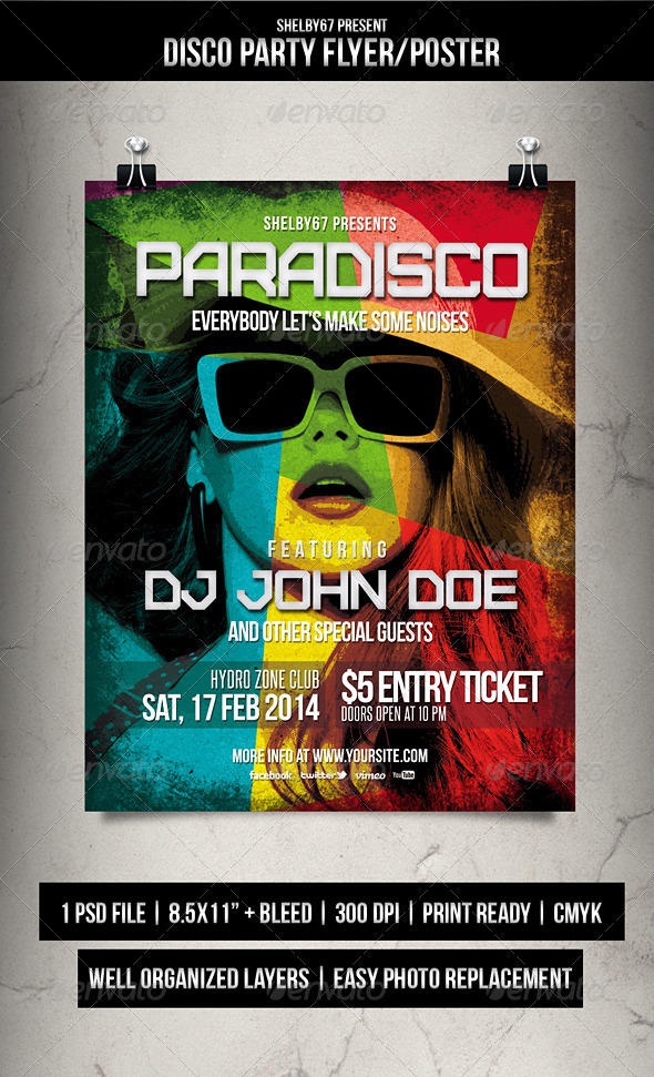 Disco Party Flyer / Poster - Events Flyers