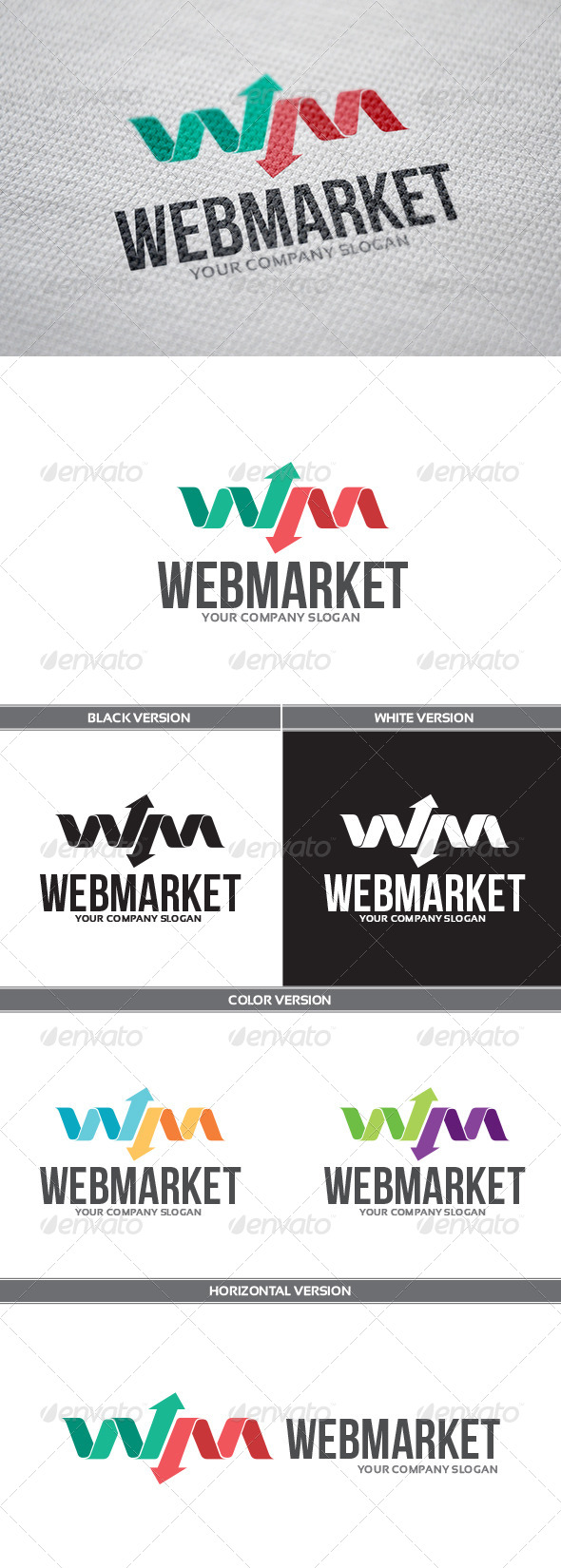 WebMarket Logo - Letters Logo Templates