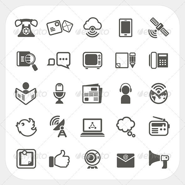 Communication Icons Set  - Communications Technology