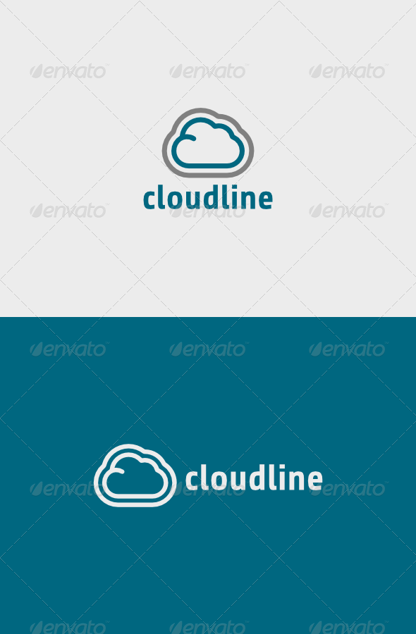 Cloud Line Logo - Objects Logo Templates