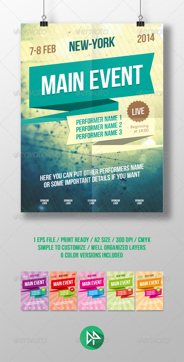 Multipurpose poster template  - Events Flyers