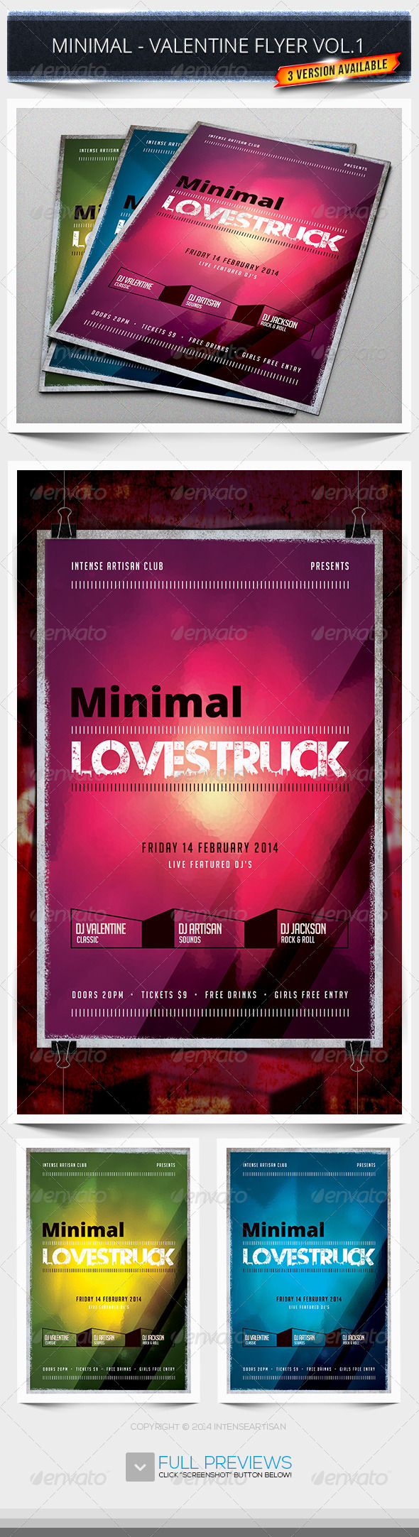 Minimal - Valentine Flyer Vol.1 - Holidays Events