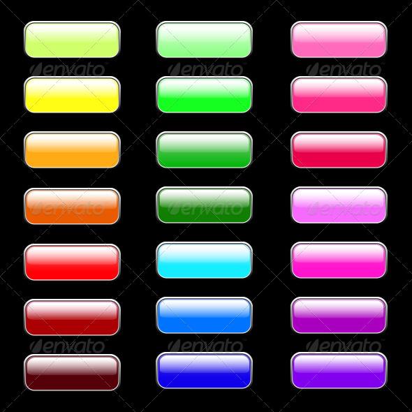 Colored Internet Buttons - Vectors