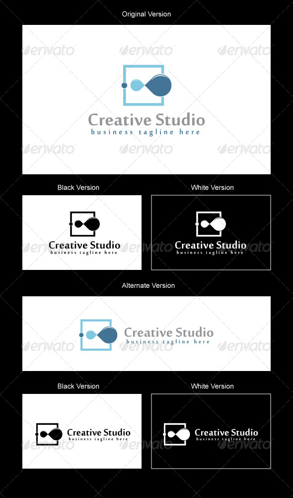 CreativeFlow Logo Design - Abstract Logo Templates