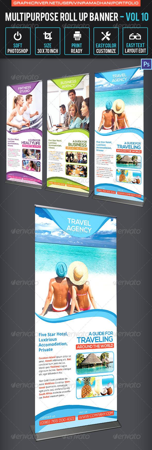Multipurpose Roll Up Banner | Volume 10 - Signage Print Templates