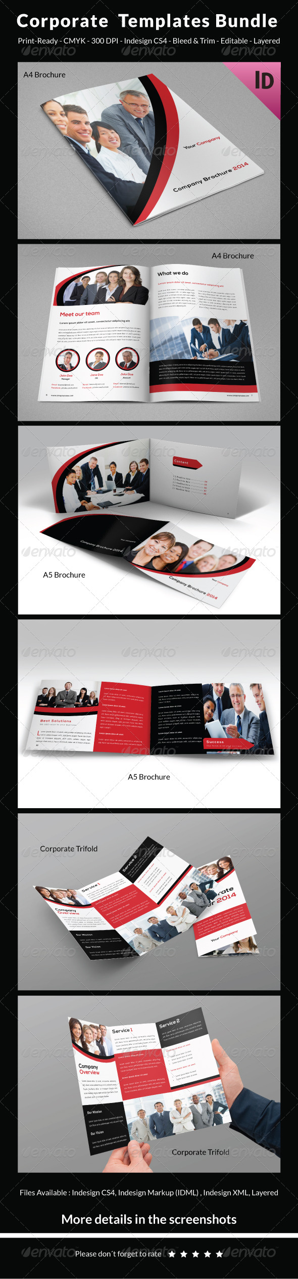 Corporate Templates Bundle - Brochures Print Templates