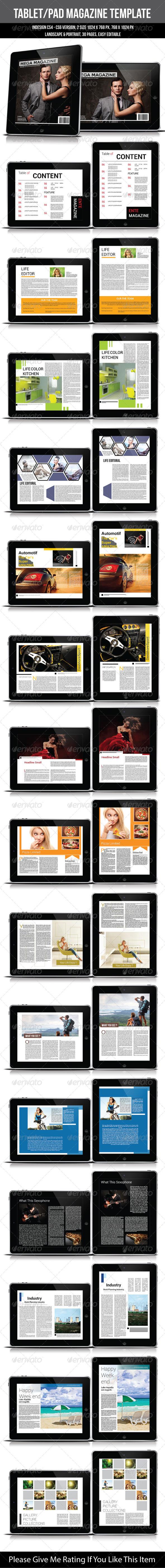 Tablet/Pad Magazine Template - Digital Magazines ePublishing
