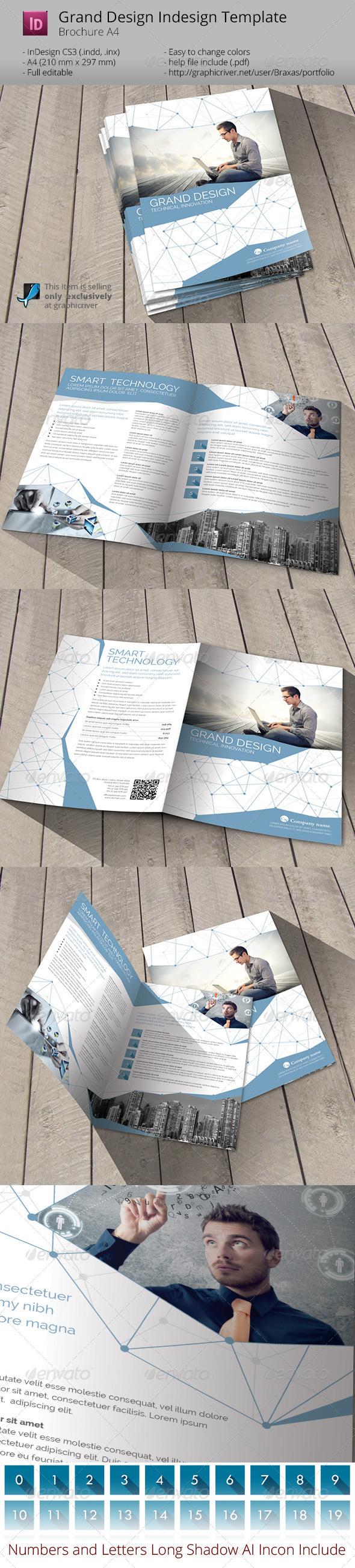 Grand Design - Smart Technology Indesign Template - Informational Brochures
