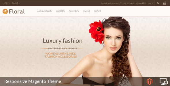 Floral - Magento Responsive Template