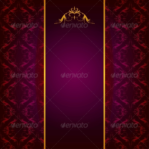 Background with Lace Ornament - Patterns Decorative