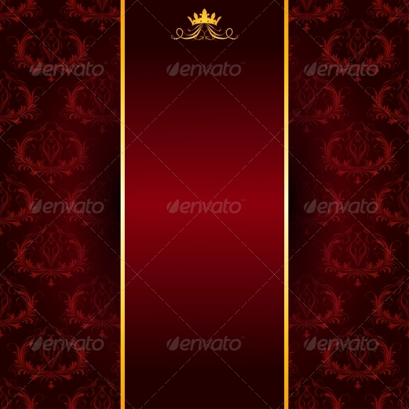 Background with Lace Ornament. - Patterns Decorative