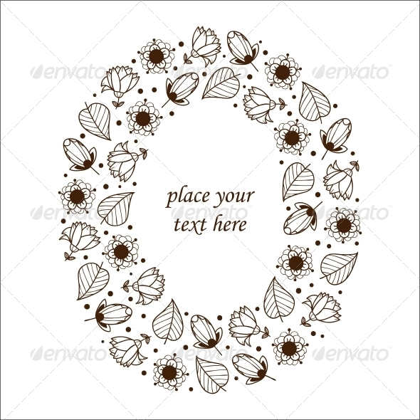 Floral Frame. - Flowers & Plants Nature