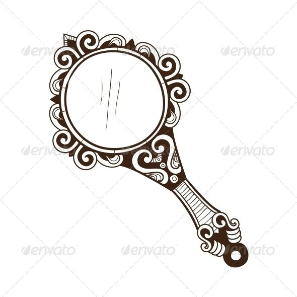 Women's Pocket Mirror. - Miscellaneous Vectors
