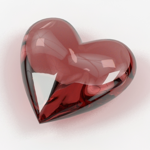 A Heart Shaped Gemstone 02 - 3DOcean Item for Sale